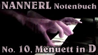 ANONYMOUS: Menuett in D major (Nannerl Notenbuch No. 10)