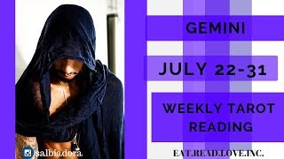 "GEMINI - ""THEY WANT TO TAKE IT TO THE NEXT LEVEL"" JULY 22-31 WEEKLY TAROT READING"