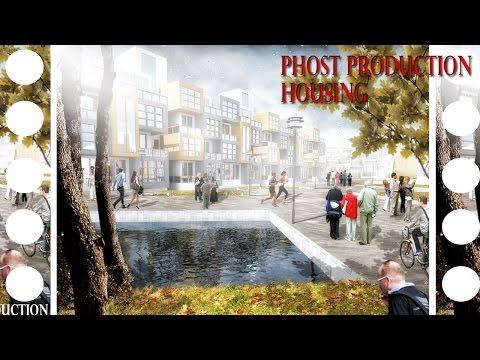Photoshop post production tutorial - Architecture - Housing
