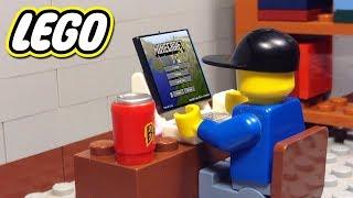 JOGANDO MINECRAFT DENTRO DO LEGO !