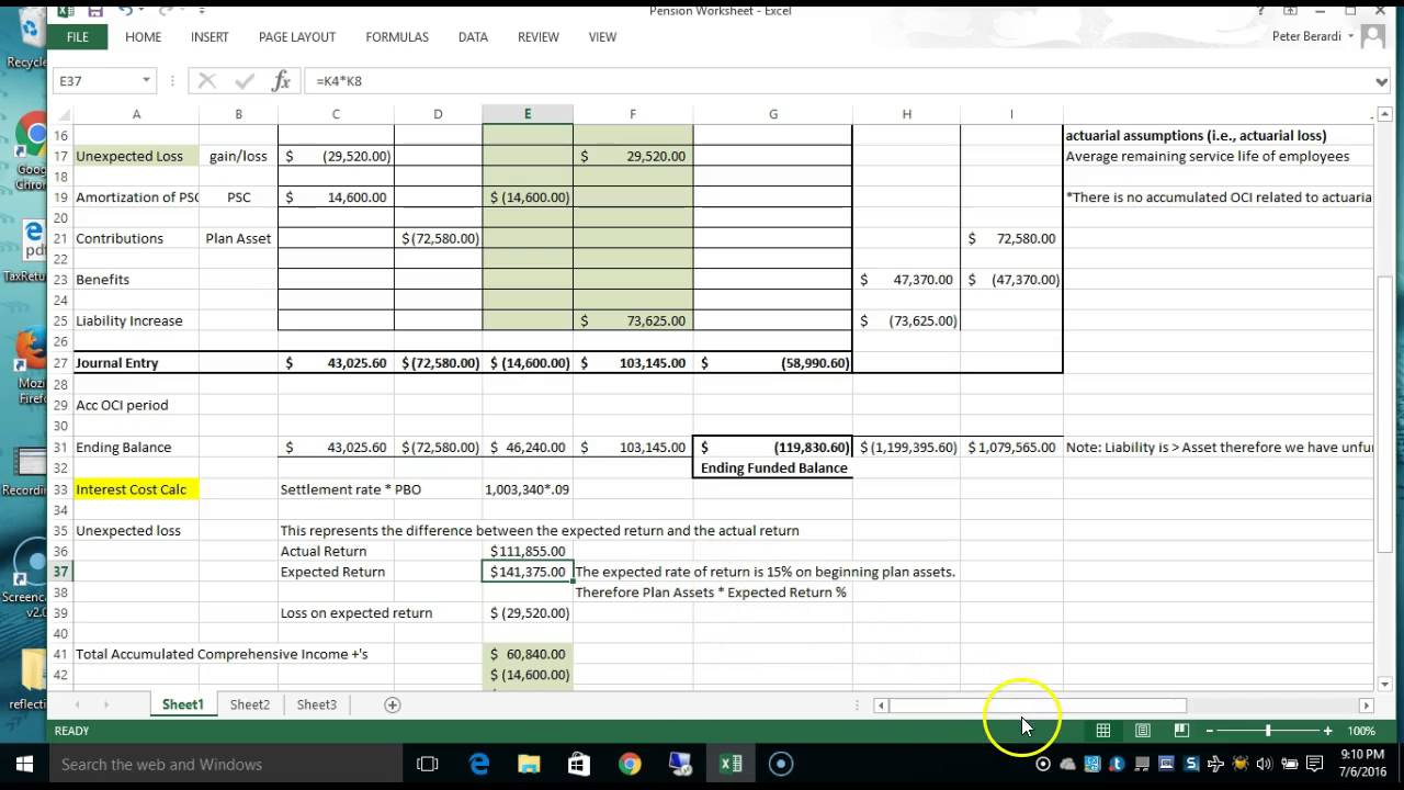 Worksheets Pension Worksheet pension worksheet explained youtube explained