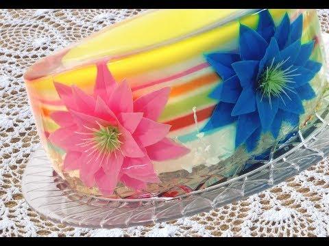 How To Make A Gelatin Art Cake Youtube