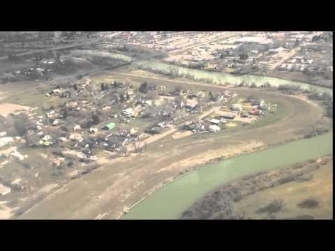 Timelapse Airplane Landing:  Great Falls, Montana