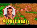 HOW TO FIND HELLO NEIGHBOUR'S SECRET BASE! - Minecraft Secret Base