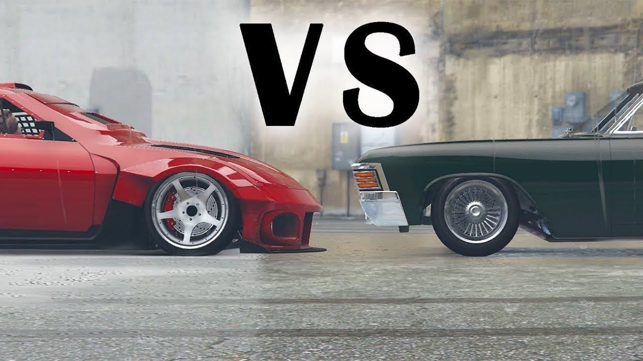 Jdm Vs Muscle Car Meet In Gta 5 Online Youtube