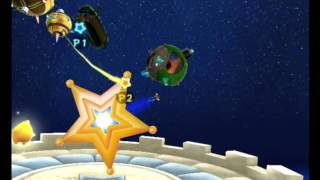 Super Mario Galaxy (Wii) Multiplayer Gameplay (2 players)