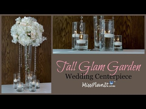 DIY Tall Glam Garden Wedding Centerpiece| Glam Centerpiece on a Budget | DIY Tutorial