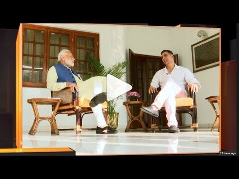 Watch: Prime Minister Narendra Modi's 'non-political' interview with Bollywood actor Akshay Kumar