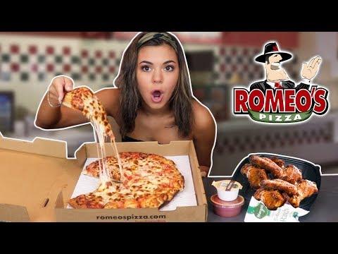 CHEESY PIZZA AND SAUCY WINGS MUKBANG! thumbnail