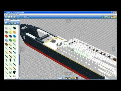 lego titanic lego digital designer youtube. Black Bedroom Furniture Sets. Home Design Ideas