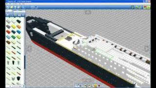 LEGO Titanic (Lego digital designer)