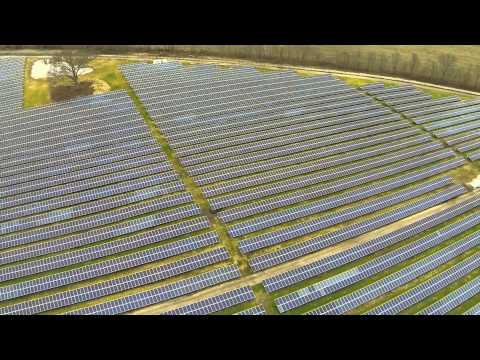 Solar Panel Array Aerial Photographer
