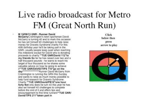Irina Aggrey - Live news broadcast for Metro Radio FM ...