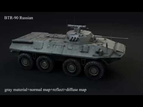 BTR 90 Russian 3d model specular diffuse map