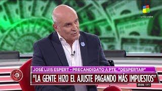 """José Luis Espert en """"Intratables"""" con Fabián Doman, por América el 20 de mayo de 2019"""