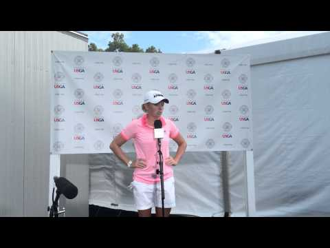 Here's Stacy Lewis talking about her second round at the U.S. Women's Open at Lancaster Country Club