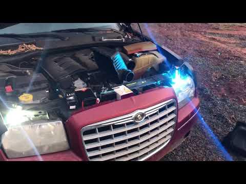 How To install LED Head Light Bulbs cool Blue on a Chrysler 300