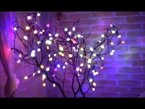 Rbolito de navidad de ramas secas youtube - Luces arbol de navidad ...
