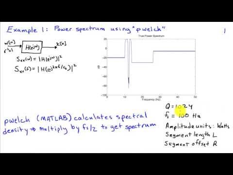 Power Spectrum Estimation Examples: Welch's Method - YouTube