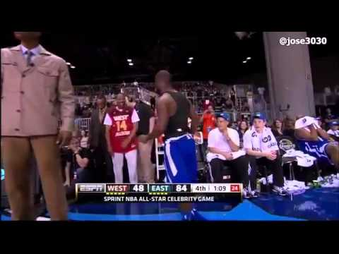 Kevin Hart gets ejected from  NBA All-Star Celebrity Game! [HQ]