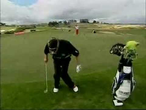 Golf Tricks NZ Open The Crowd Goes Wild