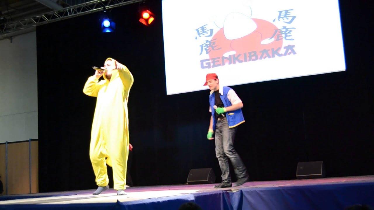 Rap Pikachu - Clermont Geek Convention 2014 - YouTube Pichu Pikachu Raichu Rap