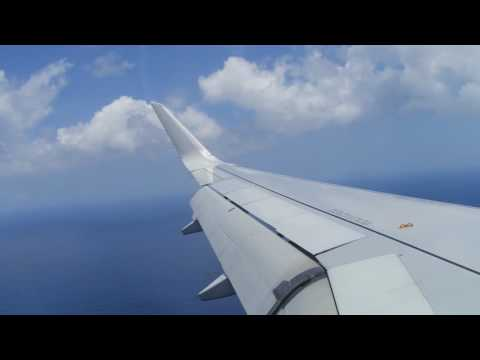 American Airlines Airbus A319 Landing in Grand Cayman