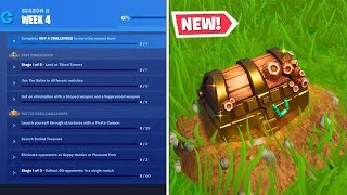 How To Complete ALL WEEK 4 CHALLENGES in SEASON 8 - Fortnite Battle Royale