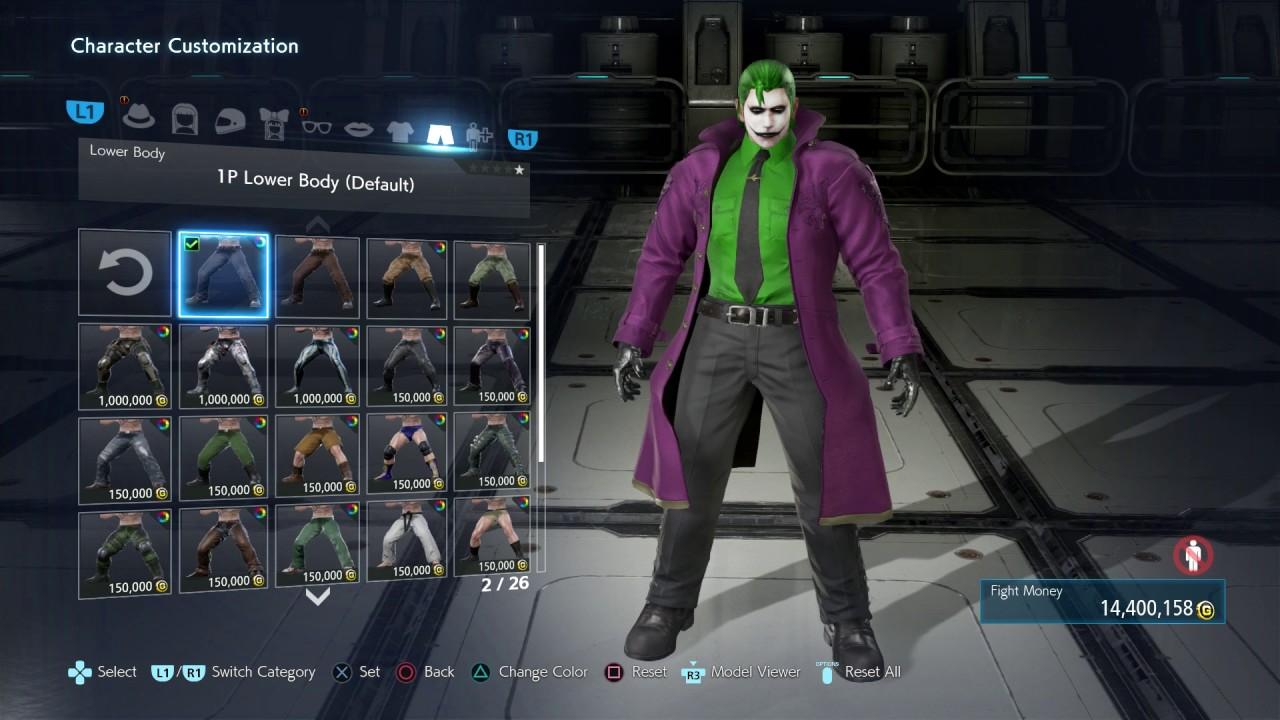 Tekken 7 Joker Customization Tutorial 1080p 60fps Ps4 Pro Youtube