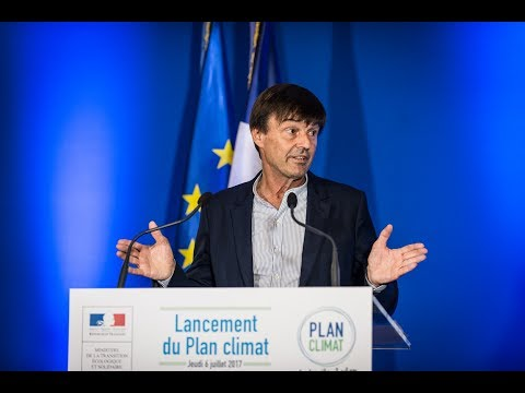 Nicolas Hulot presents the French climate plan