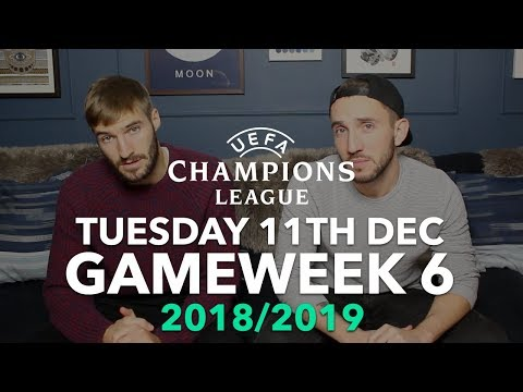 champions-league---gameweek-6---tuesday-11th-december---2018/2019