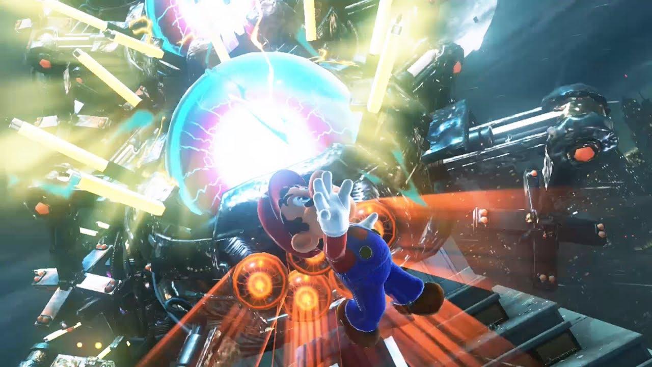 Mario Vs Mecha Wiggler In The Metro Kingdom Super Mario Odyssey