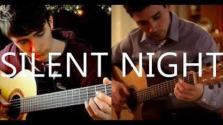 Silent Night (fingerstyle guitar cover by Eddie van der Meer & Peter Gergely)