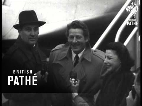Danny Kaye And Wife Arriving To UK (1948)