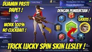 TRICK LUCKY SPIN SKIN LESLEY MOBILE LEGENDS !