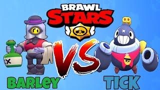 Barley vs Tick   5v5 Hesaplaşma - Brawl Stars Karakter Savaşları