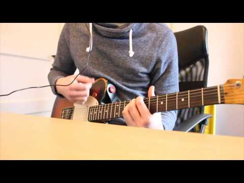 Coldplay - God put a smile upon your face live - guitar cover.