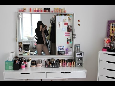Mon coin maquillage vanity tour be you tiful youtube - Meuble rangement maquillage ...