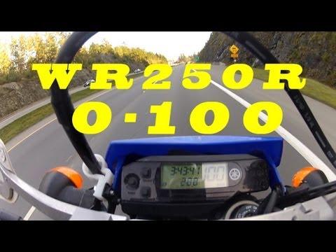 Ride 41: Yamaha WR250R Dual Sport 0-100 kph (0-60mph) - YouTube