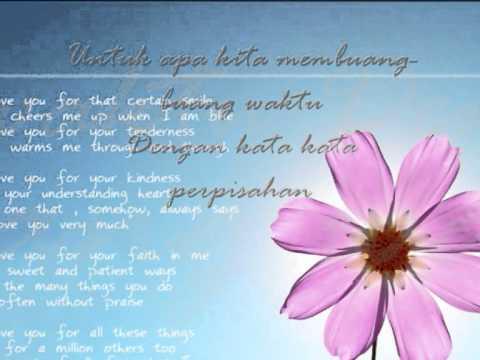 cinta kita-teuku wisnu ft shireen sungkar lyrics