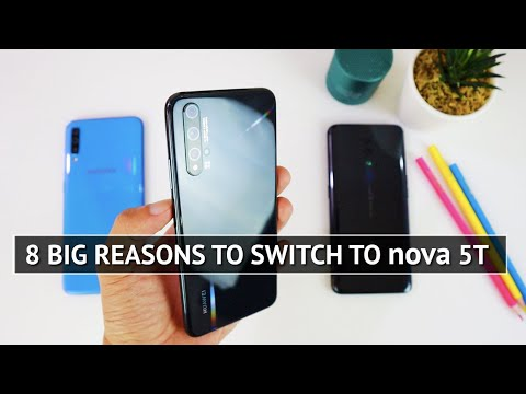 Huawei nova 5T vs Samsung A70 vs Oppo Reno