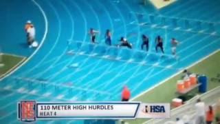 Download Travis Anderson runs state record 13.59  110HH at IHSA State prelims