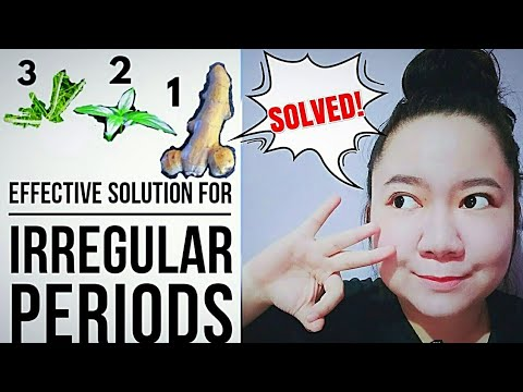 3 EFFECTIVE NATURAL CURE For Irregular Periods | Herbal Remedies | Ginger | Serpentina | Paragis