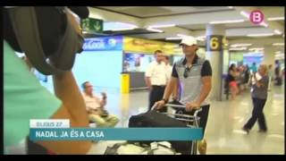 Rafael Nadal returned home to Mallorca after Wimbledon loss