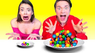 BIG AND SMALL PLATE CHALLENGE | Prank Wars by ideas 4 Fun CHALLENGE