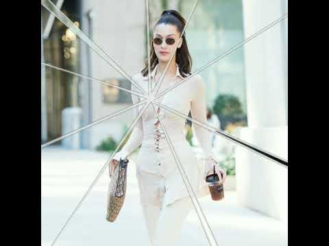 Bella Hadid leaving a hotel in New York.