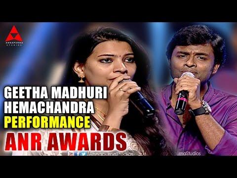 Geetha madhuri and Hemachandra Live Performence at ANR Awards