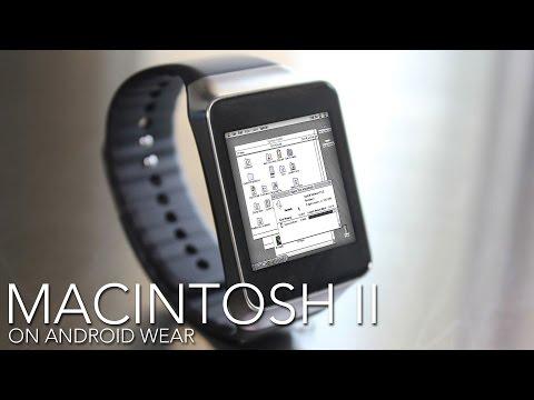 Macintosh II on Android Wear