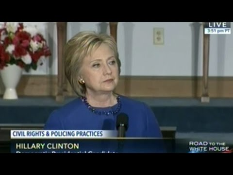 """Hillary Clinton """"White Americans We Need To Do A Better Job Of Listening When African Americans Talk"""