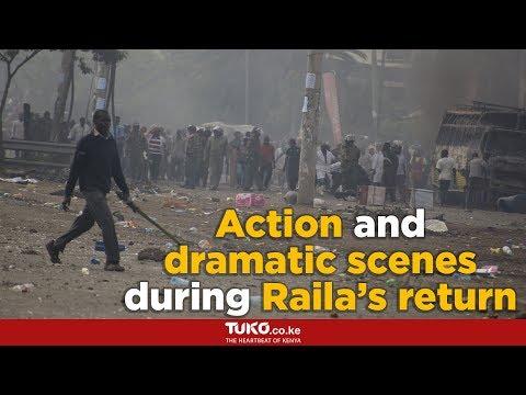 Raila Odinga's return from USA-London trip trigger drama in Nairobi